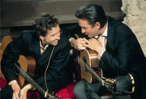 Bob Dylan e Johnny Cash. Los Angeles, 1969