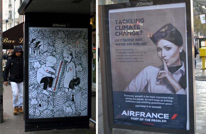 Brandalism a Parigi per COP21