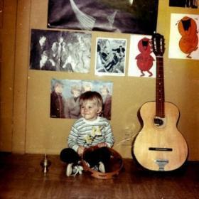 Foto d'infanzia di Kurt Cobain