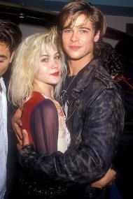 Christina Applegate e il fidanzato Brad Pitt, Los Angeles, 1988