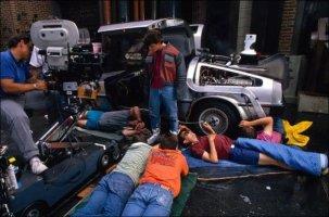 Le riprese delle scarpe da tennis di Marty per Ritorno al futuro parte II, 1989