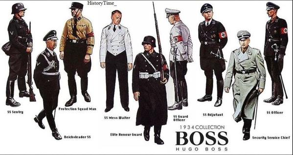 Hugo Boss, progettista delle uniformi naziste nel 1930 e 1940