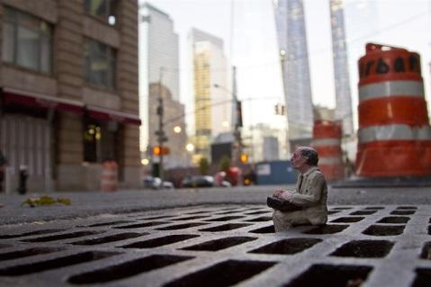 Isaac Cordal @ New York