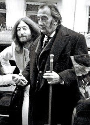 John Lennon e Salvador Dali