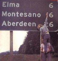 Kurt Cobain e Krist Novoselic. 1990