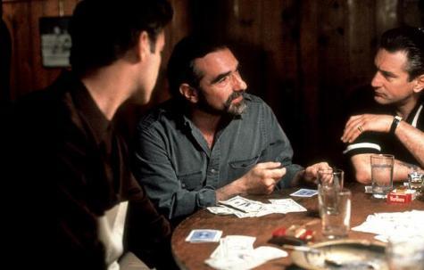 "Martin Scorsese, Robert De Niro & Ray Liotta prepping for Goodfellas' ""nice fucking game"" of cards"