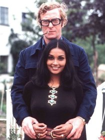 Michael Caine e la moglie, circa 1970