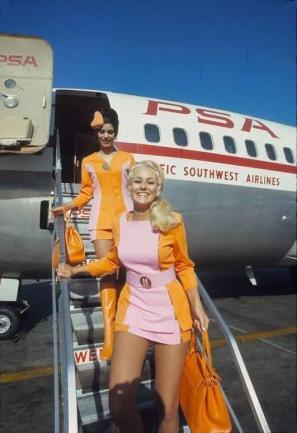 Le steward del Pacific Southwest Airlines, 1972
