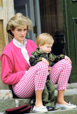 Principessa Diana e il principe Harry, 1986