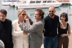 Quentin Tarantino e il cast di Pulp Fiction al Festival di Cannes 1994