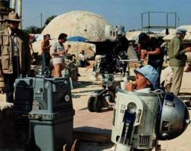 Il set di Star Wars in pausa pranzo