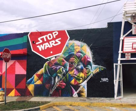 """""""Stop Wars"""" di Kobra – Wynwood, Miami per Art Basel 2015"""