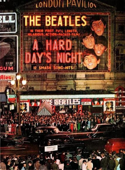 La premiere dei Beatles 'A Hard Day's Night' al London Pavilion, 1964
