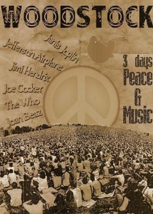 Woodstock poster, 1969