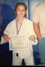 Ronda Rousey da giovane