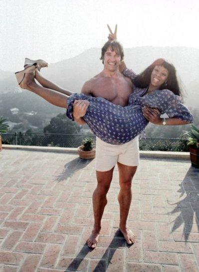 Arnold Schwarzenegger e Donna Summer, Los Angeles 1977