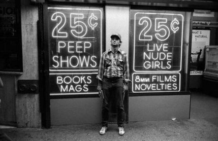 Bill Murray a Times Square, 1979. Fotografia di Shepard Sherbell
