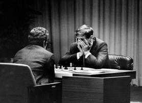 Boris Spassky e Bobby Fischer - Fotografia di Harry Benson