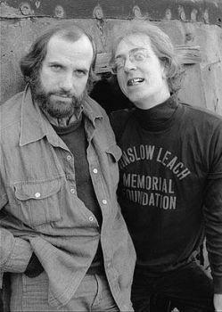 Brian De Palma e William Finley sul set di 'Phantom of the Paradise' (1974)