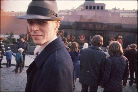 David Bowie nella Piazza Rossa di Mosca, 1973