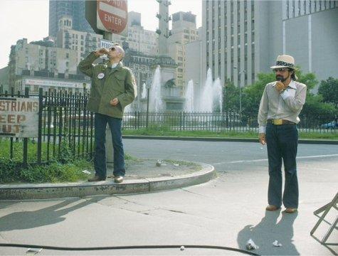 De Niro e Scorsese sul set di Taxi Driver. Fotografia di Steve Schapiro