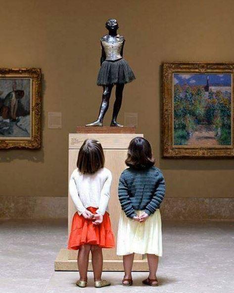 Scultura di Edgar Degas - Fotografia di autore sconosciuto