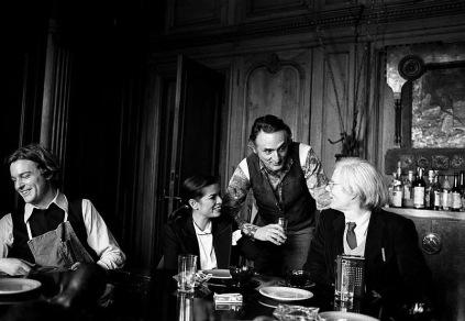 Jamie Wyeth, Bianca Jagger, Larry Rivers, Andy Warhol - Fotografia di Harry Benson