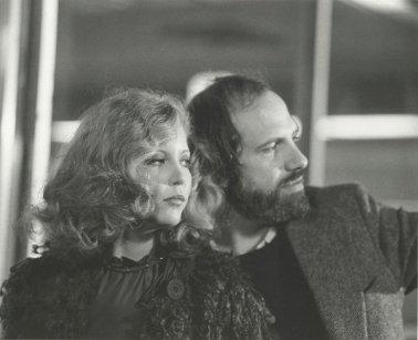"""Nancy Allen e Brian De Palma sul set di """"Vestito per uccidere"""" (1980)"""