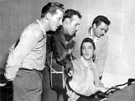 The Million Dollar Quartet - Jerry Lee Lewis, Carl Perkins, Johnny Cash e Elvis Presley