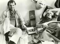 Bill Murray e Dustin Hoffman sul set di Tootsie