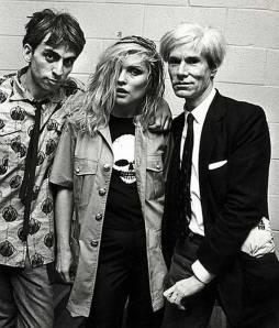 Chris Stein, Debbie Harry e Andy Warhol