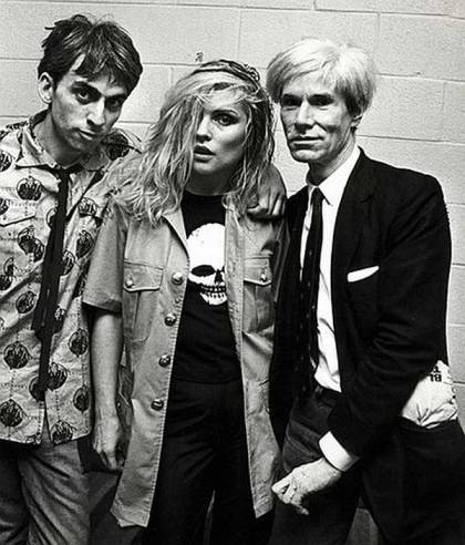 Chris Stein, Debbie Harry e Andy Warhol