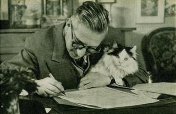 Jean-Paul Sartre e il suo gatto