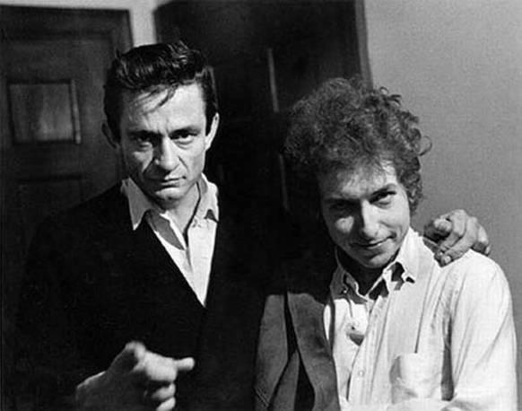 Johnny Cash e Bob Dylan