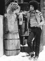 Michael Jackson con Oscar the Grouch sul set di A Special Sesame Street Christmas