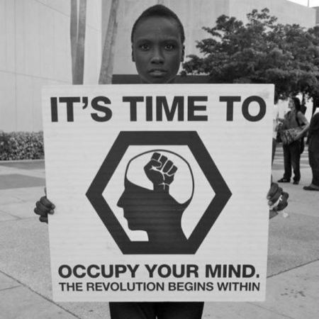 It's time to occupy your mind - The Revolution begins within - Autore sconosciuto