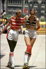 Pattinaggio a rotelle a Chicago, 1979. Fotografia di Rene Burri