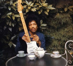 Some of the last photos of Jimi Hendrix, taken the day before he died by his girlfriend Monika Danneman, 1970