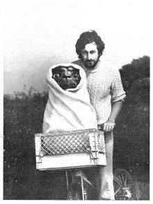 Steven Spielberg sul set con E.T. nel 1982