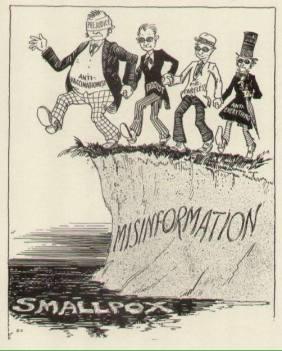 Striscia contro la vaccinazione degli anni 40
