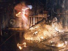 """Il nucleo radioattivo fuso dopo l'incidente di Chernobyl, noto come """"piede di elefante"""""""
