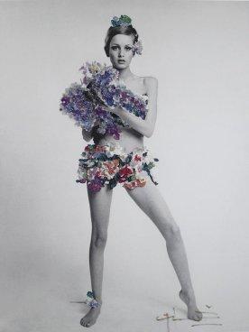 Twiggy, Vogue, 1967. Fotografia di Bert Stern