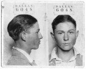 Una foto segnaletica del 16enne Clyde Barrow, quello del duo 'Bonnie e Clyde,' Dallas 1926