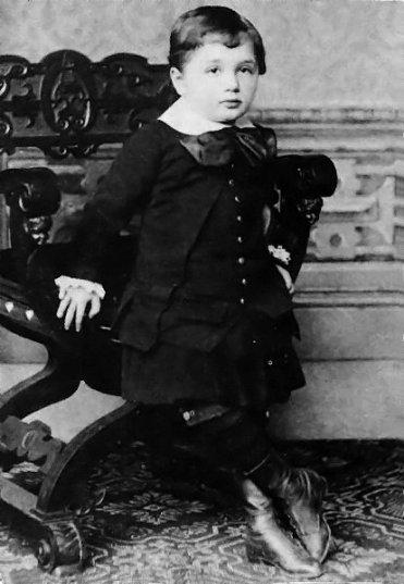 Albert Einstein da bambino