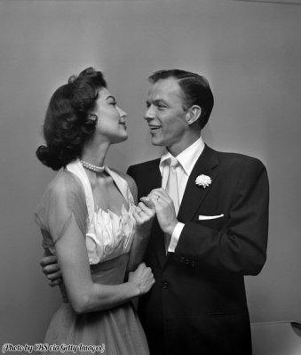 Ava Gardner e Frank Sinatra il giorno delle nozze, 1951