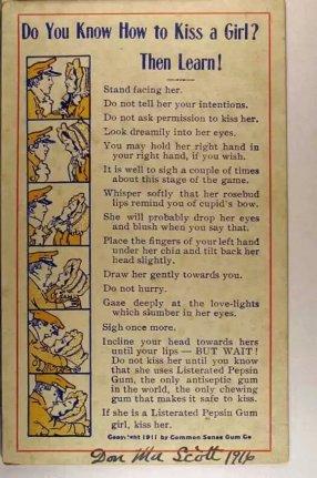 Come baciare una ragazza, 1911