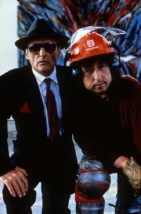 Dennis Hopper e Bob Dylan, backstage di Ore Contate, 1989