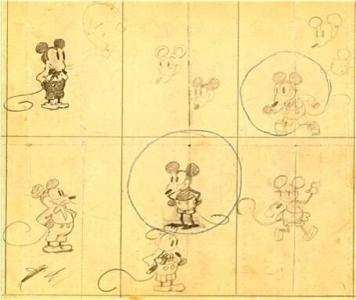 I primi disegni di Topolino di Walt Disney
