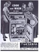 Frigorifero con fornello e lavello 1952