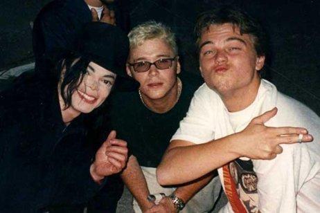 Michael Jackson, Kevin Connolly e Leonardo DiCaprio 1998